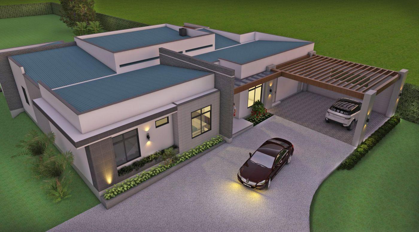Planos de casas campestres dise os modernos venta en linea for Diseno casa en l