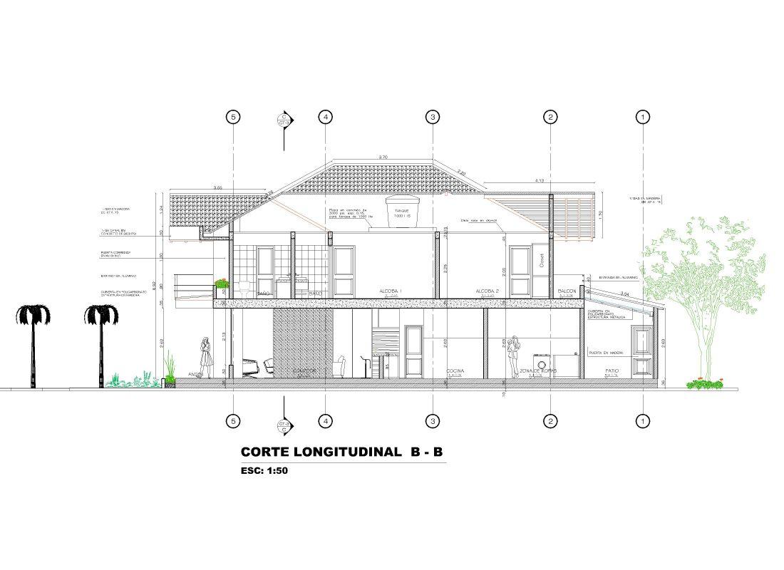 Corte arquitectonico planos de casas campestres dise os for Planos en linea