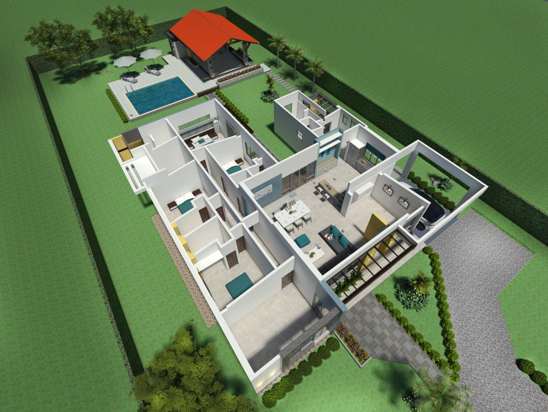 Planos de casas campestres dise os modernos venta en linea Planos interiores de casas modernas