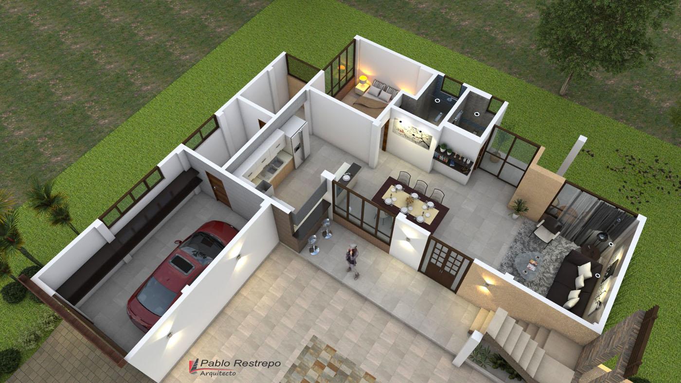Modificaciones del proyecto planos de casas campestres for Diseno y construccion de casas