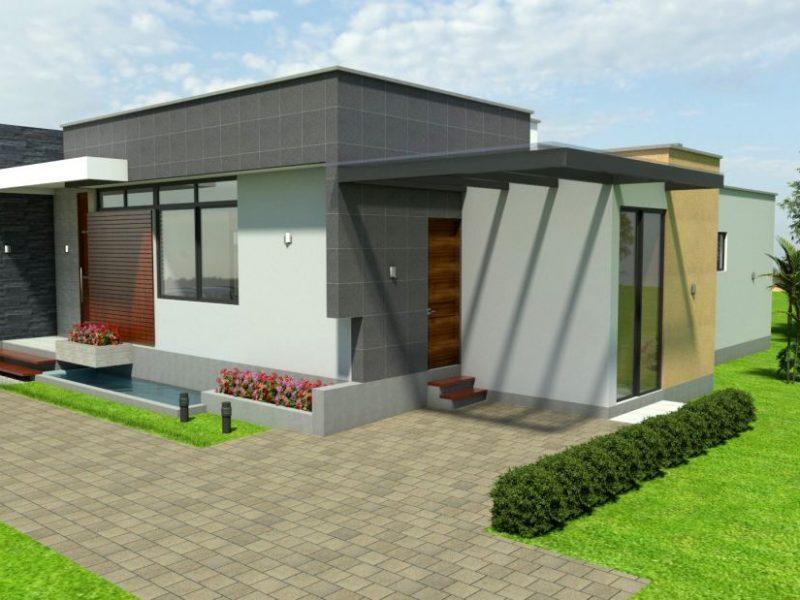Diseño casa campestre tropical moderno