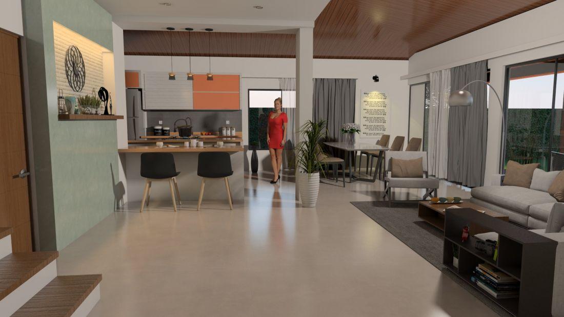 Dise o casa campestre el alero colonial venta de planos for Casa minimalista 120m2