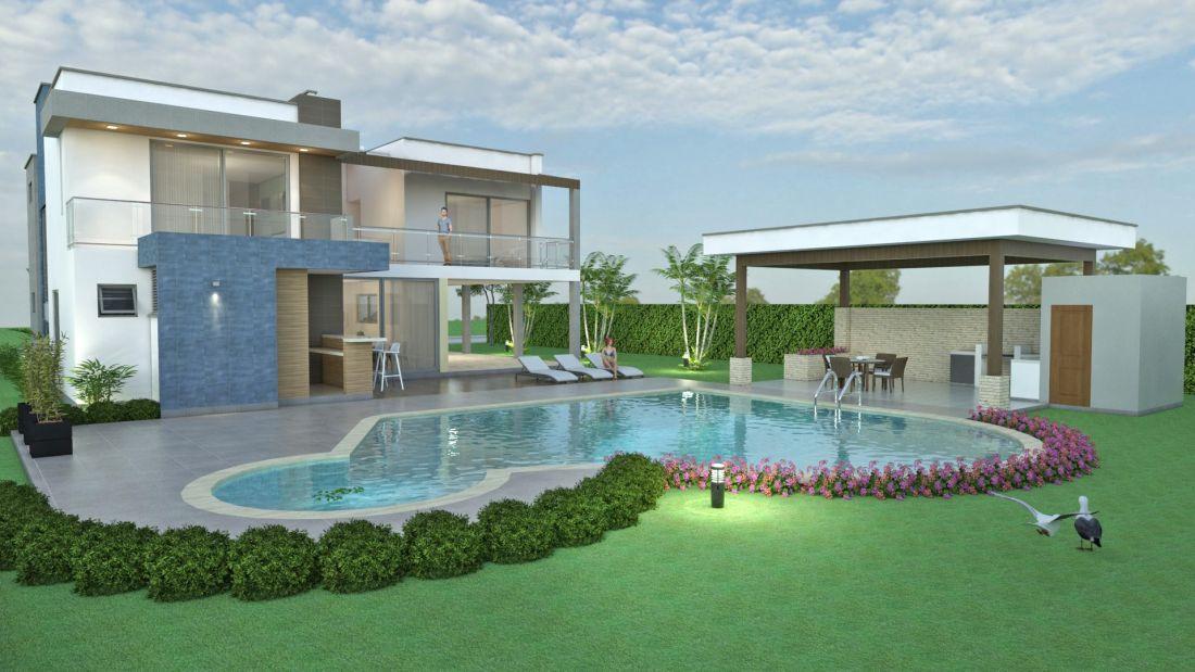 Dise o casa campestre sol naciente planos de casas for Diseno de piscinas para casas de campo