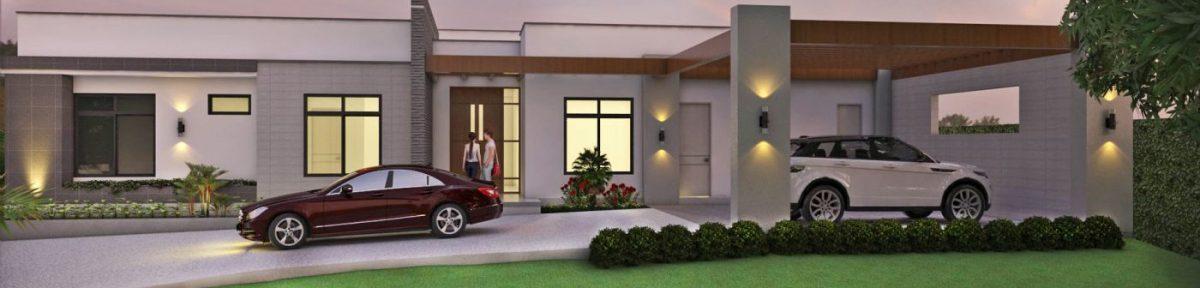 Fachada Pincipal, planos casas campestres, diseño de un piso