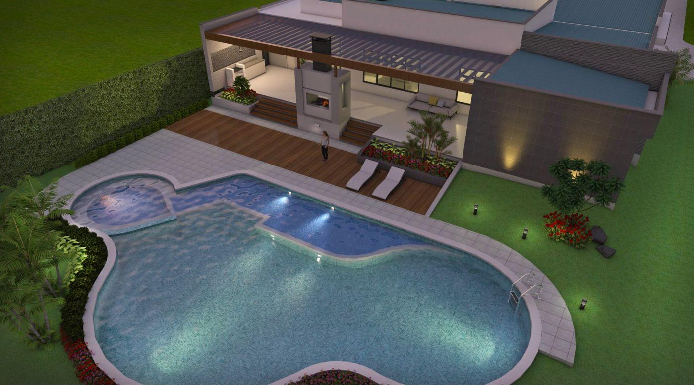 Planos de casas en linea dise os arquitect nicos modernos for Planos de piscinas con jacuzzi