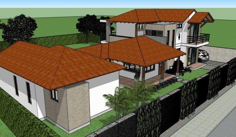 Diseño casa campestre alero primaveral