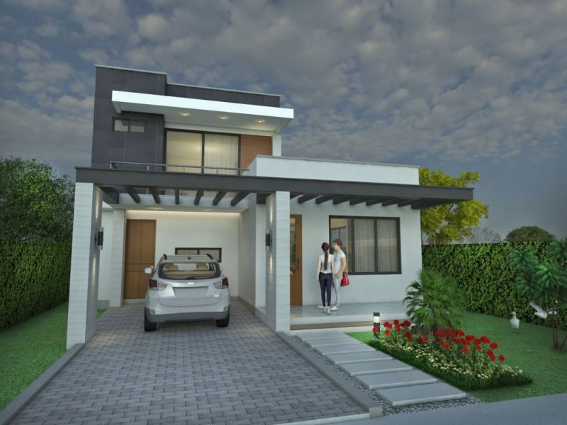 Dise o casa moderna la pradera proyecto arquitectonico de for La casa moderna
