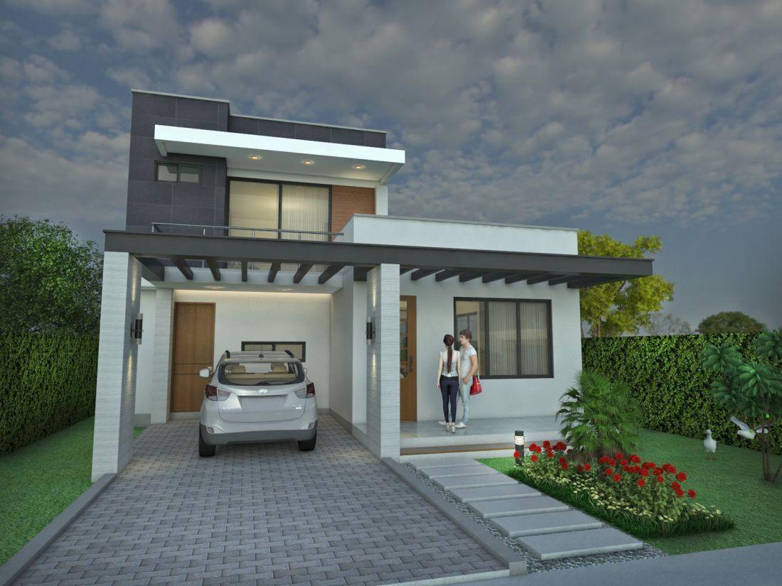 Dise o casa moderna la pradera proyecto arquitectonico de for Disenos de pisos para casas