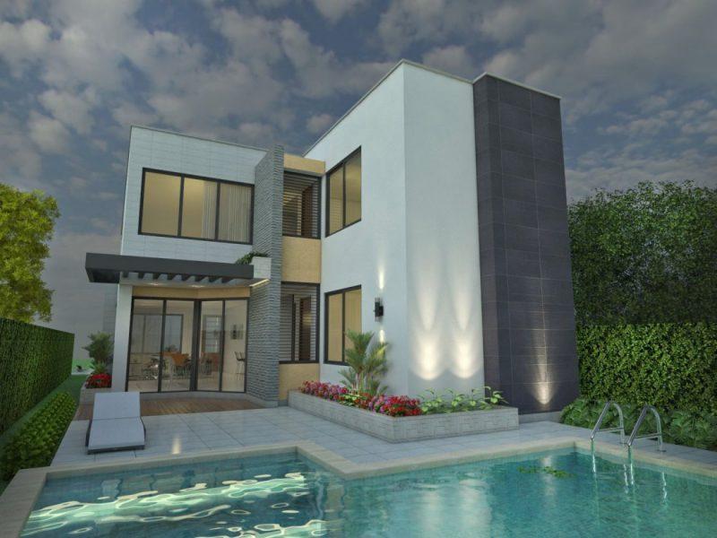 Dise o casa moderna la pradera proyecto arquitectonico de for Casa moderna 2017