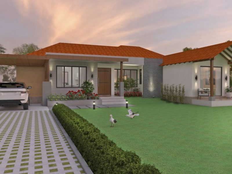Dise o casa campestre los tulipanes venta de planos en linea - Diseno de casas en linea ...