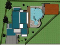 Diseño casa campestre laguna celeste