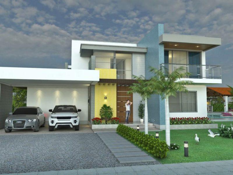 Dise o casa campestre laguna celeste rea 351 m2 6 for Pisos para casas campestres