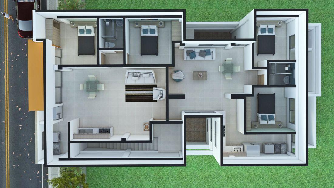 Edificio de apartamentos planos de casas campestres for Planos en linea