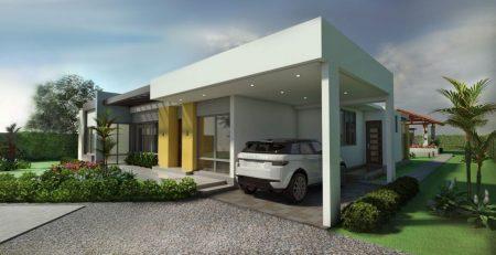 Render fachada 3, Diseño casa campestre villa celeste
