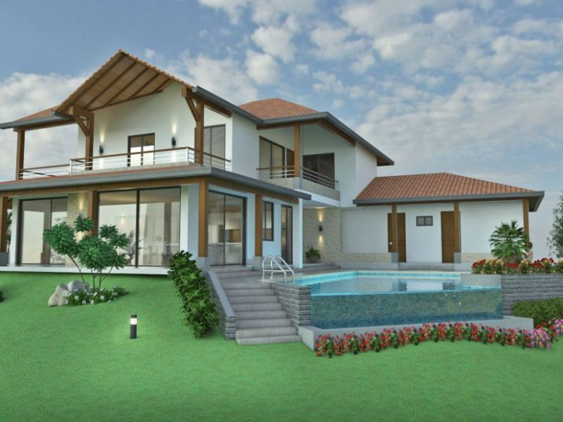 Dise o casa de campo la colina planos de casas campestres - Diseno de casas en linea ...