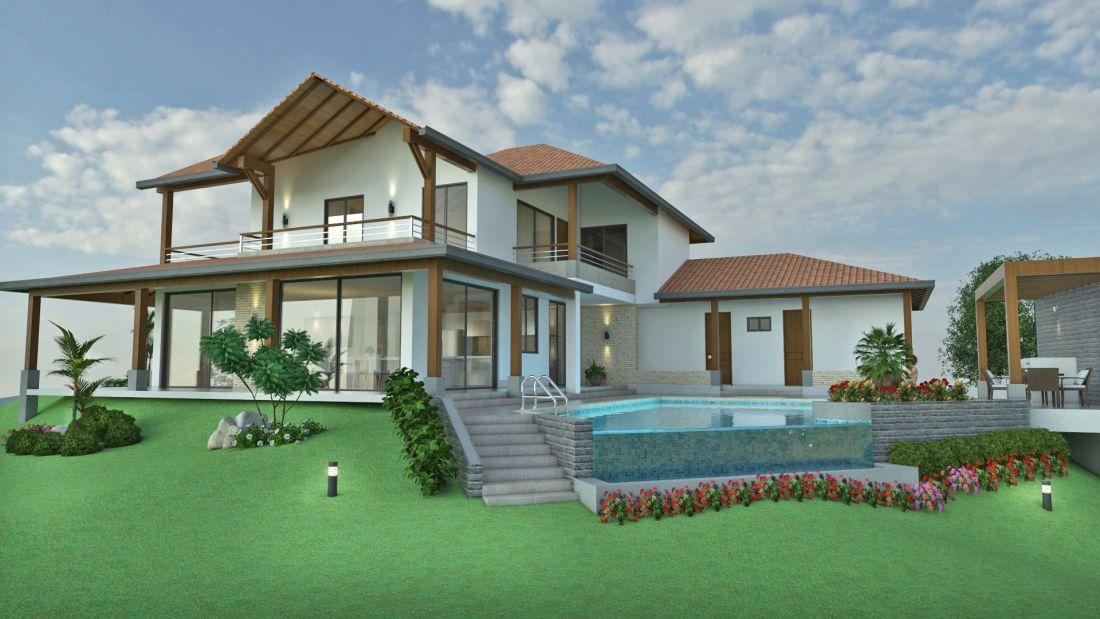 Dise o casa de campo la colina planos de casas for Diseno de piscinas para casas de campo