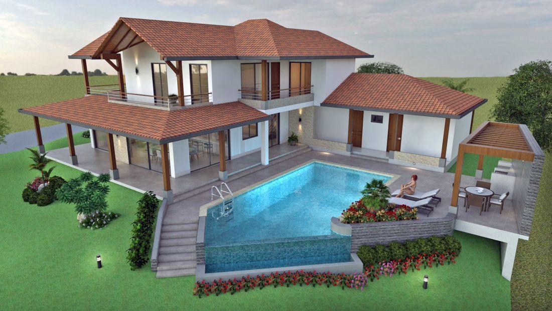 Dise o casa de campo la colina planos de casas campestres for Diseno de piscinas para casas de campo