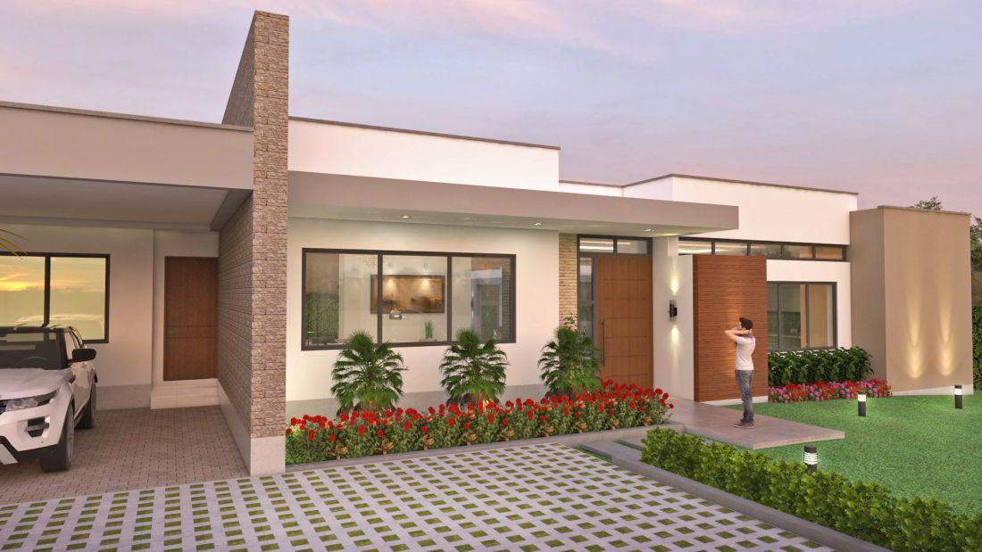 Fachadas de casas en un piso planos de casas modernas - Fachadas de casas de un piso ...