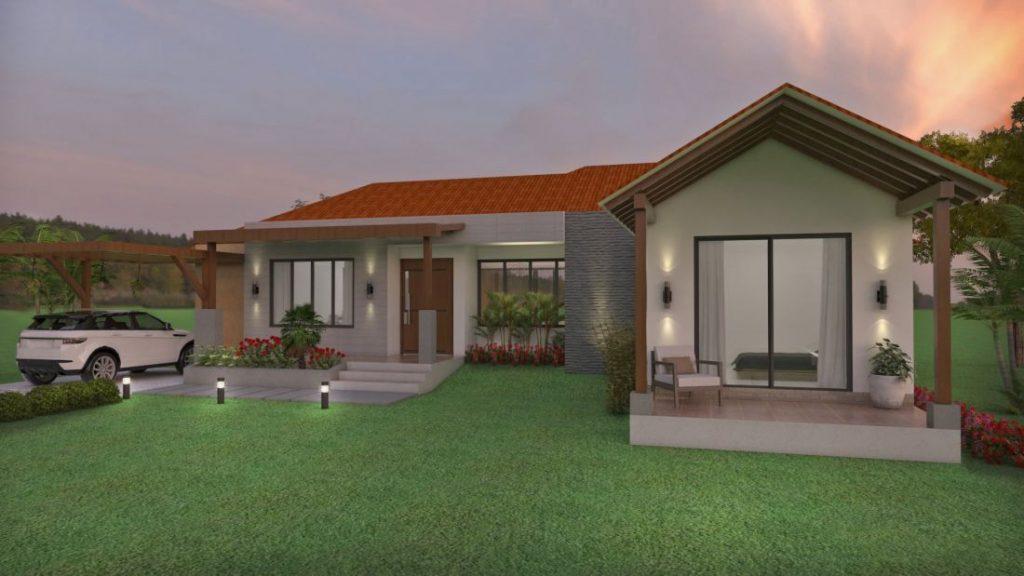 Fachadas de casas en un piso planos de casas modernas for Disenos de fincas campestres