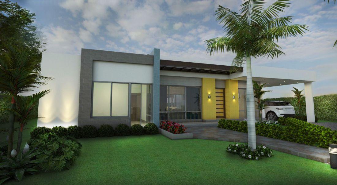 Fachadas de casas en un piso planos de casas modernas for Disenos de jardines para casas modernas