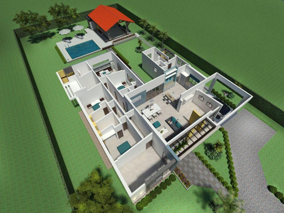 Dise o casa campestre villa celeste proyecto de casa for Planos para casas campestres
