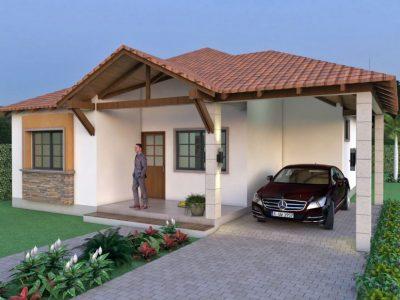 Render 1, Diseño casa campestre el edén