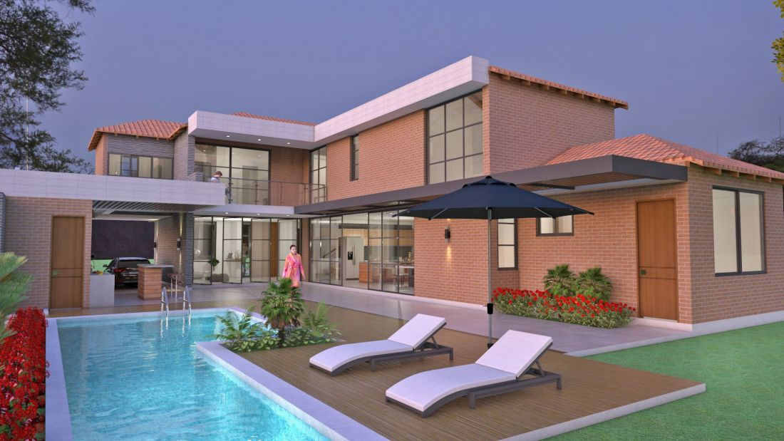 Dise o casa campestre el para so planos de casa for Pisos para casas campestres