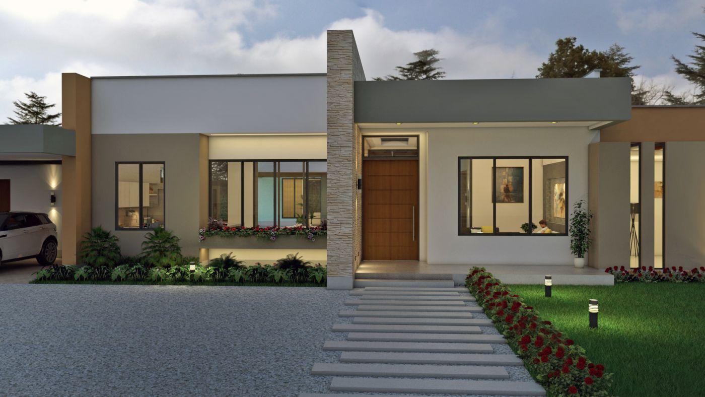 Fachadas de casas en un piso planos de casas modernas for Fachadas de casas modernas tropicales