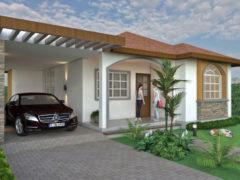 Render fachada principal 1, diseño casa campestre las palmas