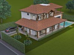 Render exterior 1, Diseño casa campestre la primavera