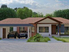 Render fachada principal, Diseño casa campestre valles de sevilla