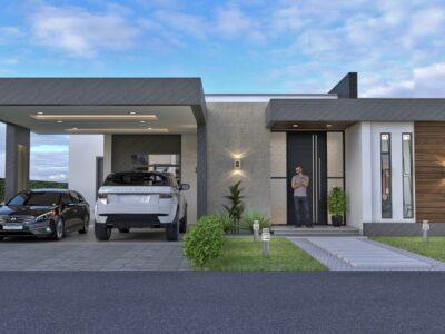 Render exterior 1, Diseño casa campestre Pasieli