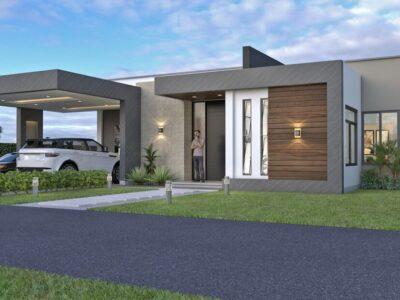 Render exterior 2, Diseño casa campestre Pasieli