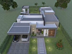 Render exterior 3, Diseño casa campestre Pasieli